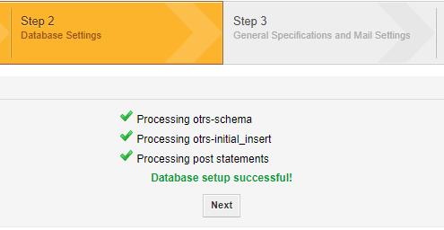 OTRS Installation Step 2 - 3