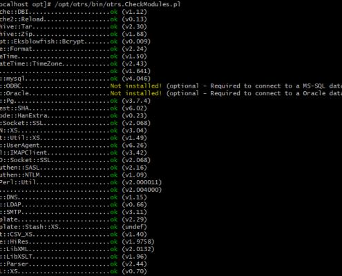 OTRS CheckModule Script Output